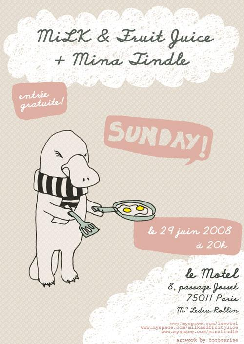 MiLK & Fruit Juice + Mina Tindle in concert