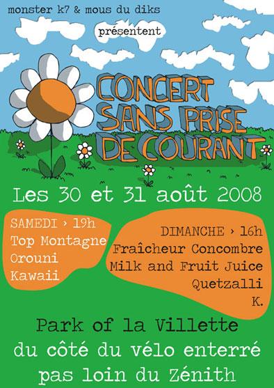 Top Montagne + Fraîcheur Concombre + Orouni in concert