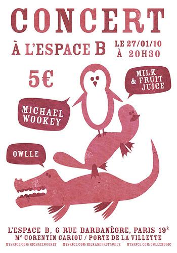 MiLK & Fruit Juice, Michael Wookey and Owlle in concert