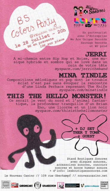 Jerri + Mina Tindle + This Is The Hello Monster! in concert