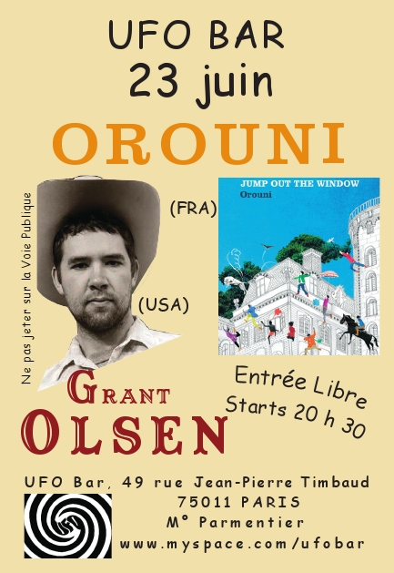 Grant Olsen + Orouni en concert