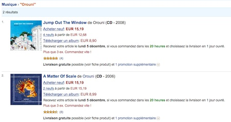 Buy Orouni records on Amazon