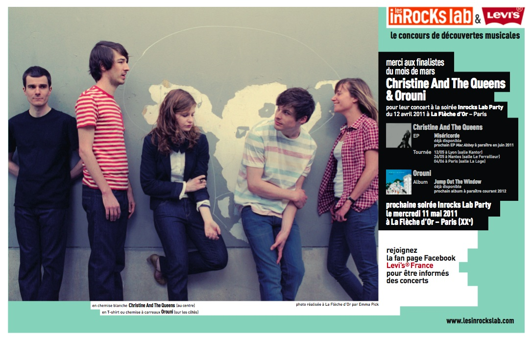 Orouni + Christine and the Queens in French magazine Les Inrocks dated April 27th (#804)