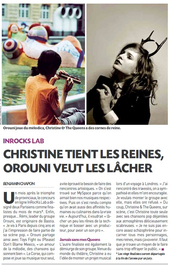 Orouni and Christine & the Queens in 20 minutes