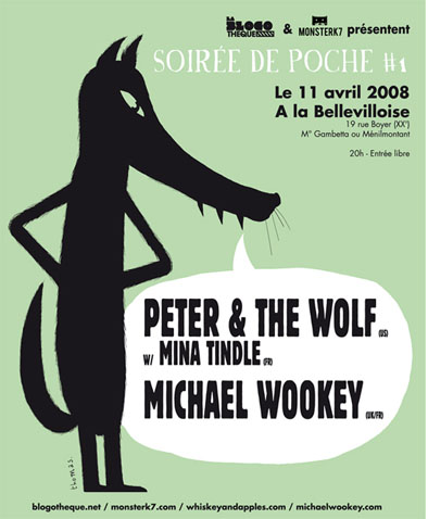 Peter & The Wolf, Mina Tindle and Michael Wookey at La Bellevilloise
