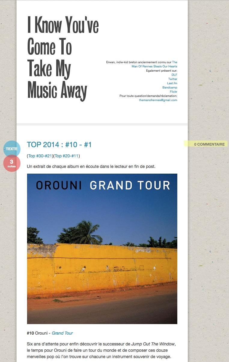 Orouni - I know you've come to take my music away
