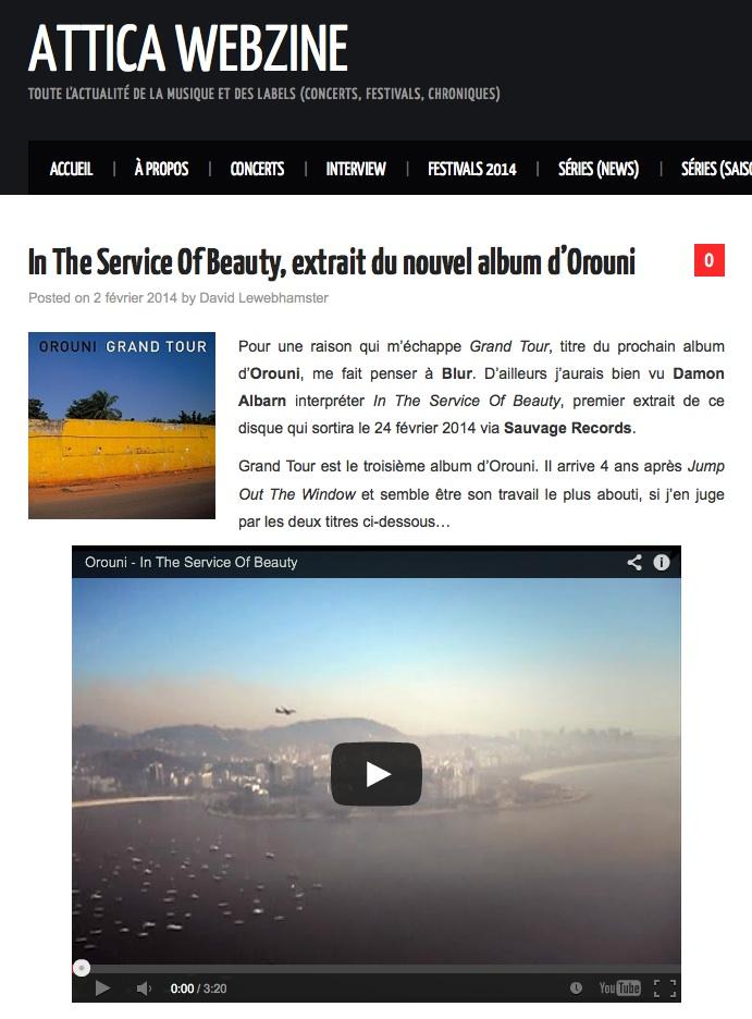 Orouni - Attica Webzine