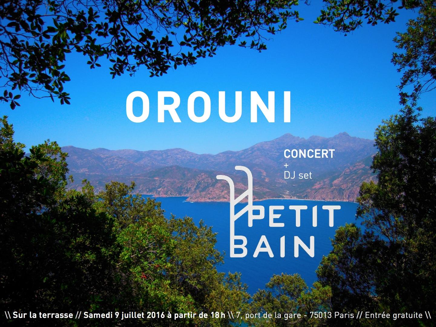Orouni @ Petit Bain