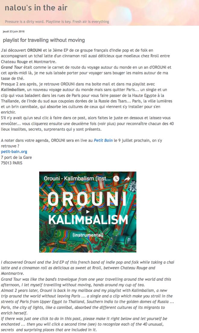 Orouni - Nalou's in the air