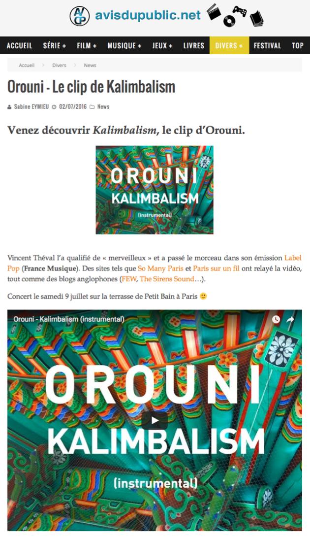 Orouni - Avisdupublic.net