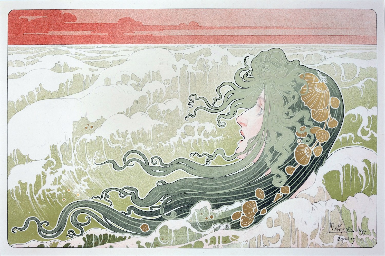 Henri Privat-Livemont - La Vague