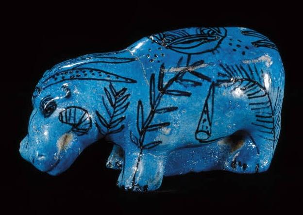 Figurine d'hippopotame - Musee du Louvre - (departement des Antiquites egyptiennes)
