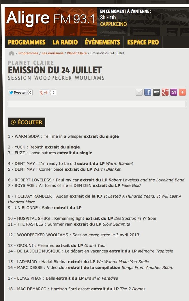 Orouni + De la Jolie Musique - Aligre FM - Planet Claire