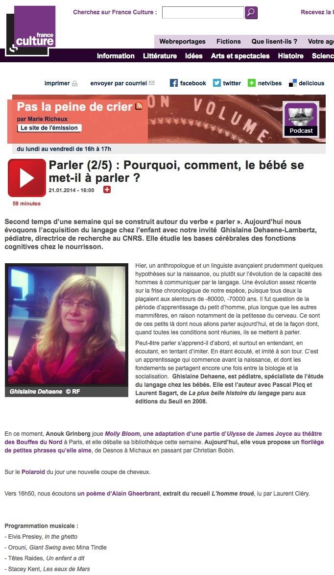 Orouni - France Culture - Pas La Peine De Crier - Polaroid