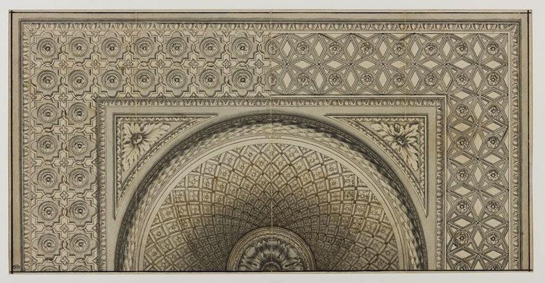 Anonyme français surnommé le Maitre du demi-plafond, Projet de plafond