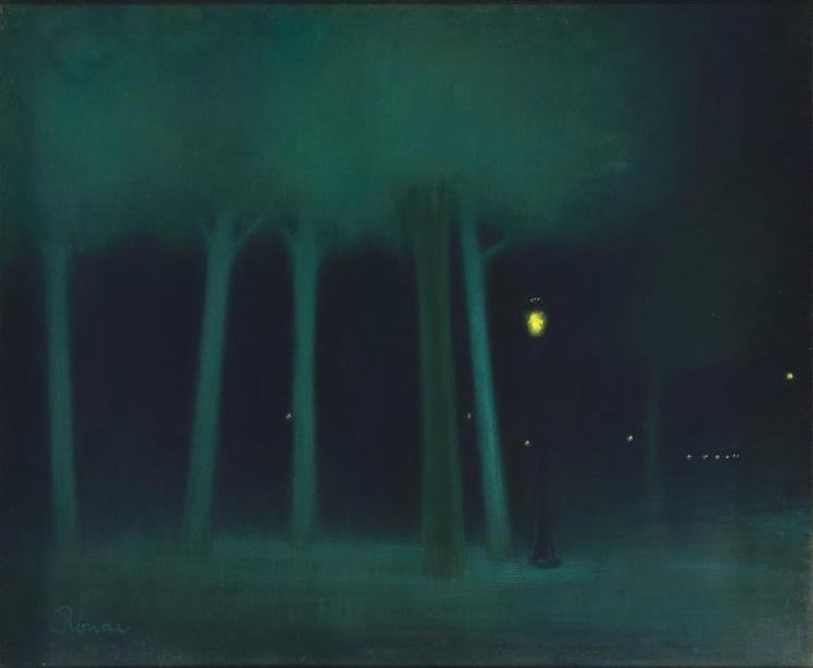 Jozsef Rippl-Ronai - Un parc la nuit