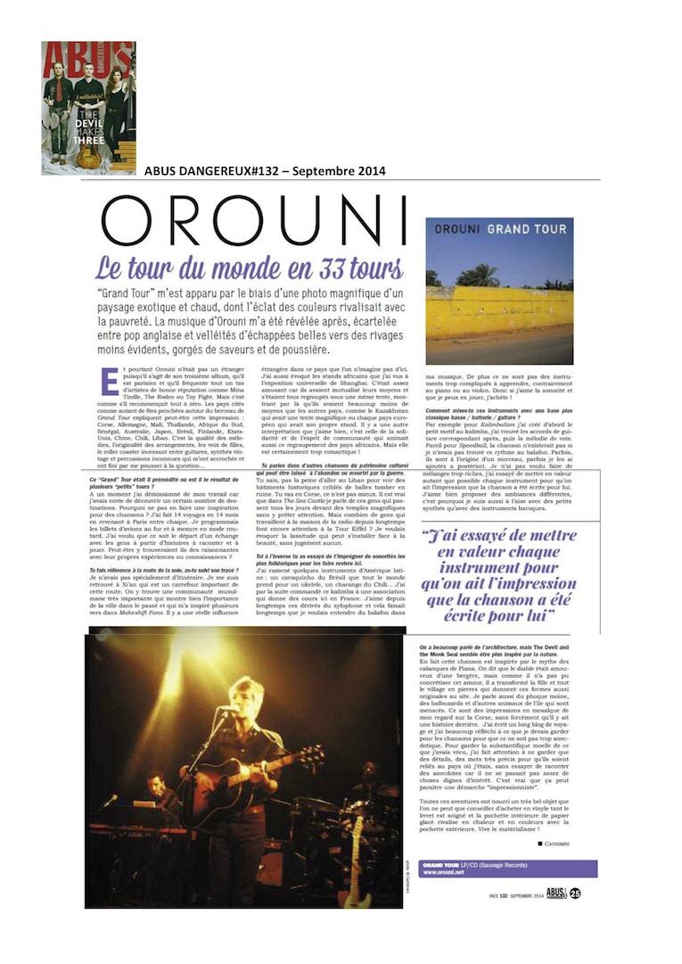 Orouni - Abus Dangereux - Interview