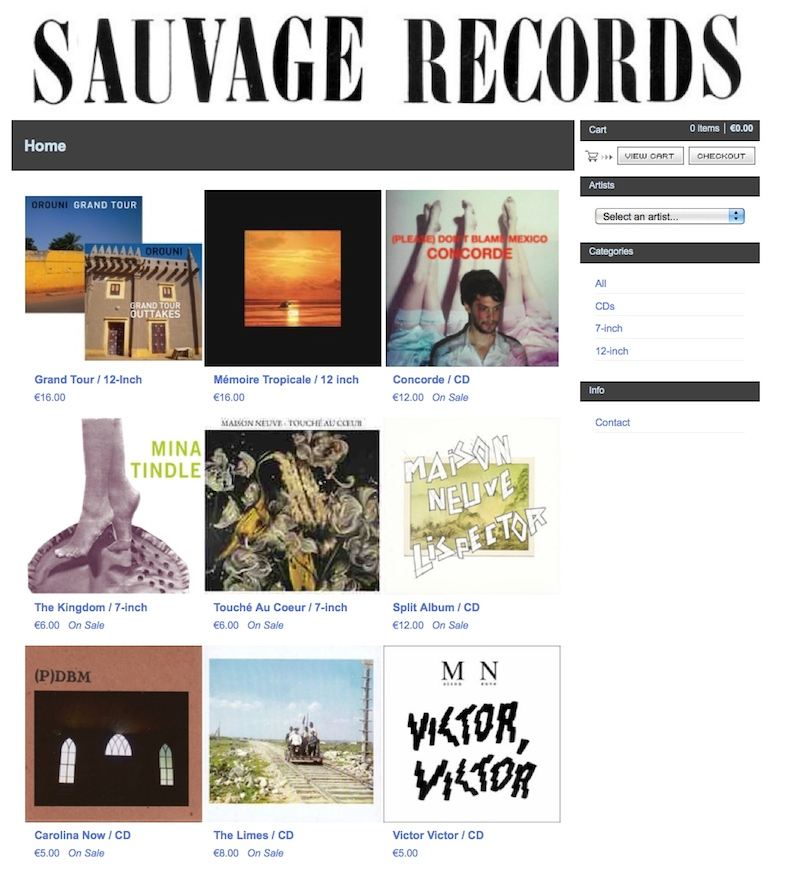 Sauvage Records Shop