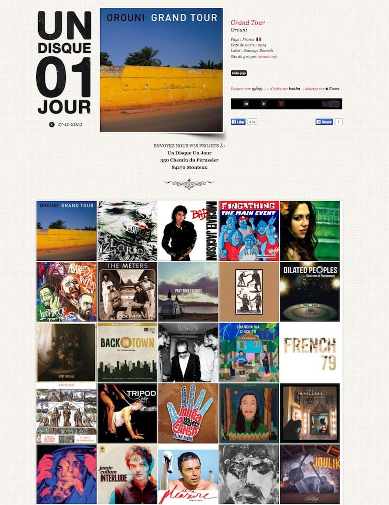 Orouni - Un disque Un jour