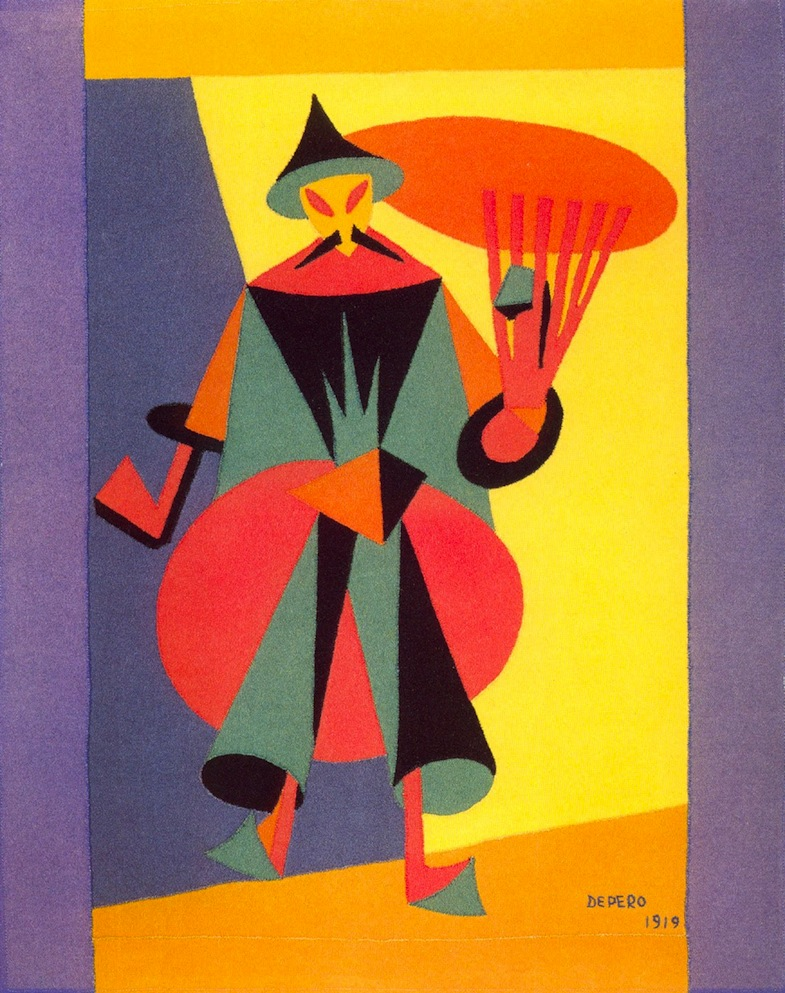 Fortunato Depero - Costume design for The Nightingale (Igor Stravinsky)