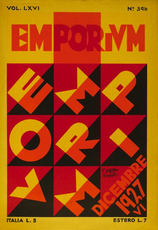Fortunato Depero - Emporium magazine cover