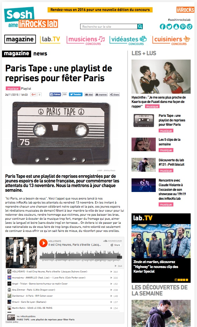 Inrocks Paris Tape