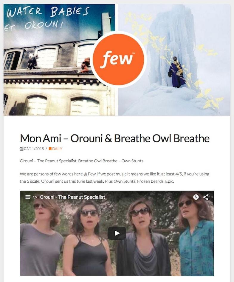Orouni - Feel electric world
