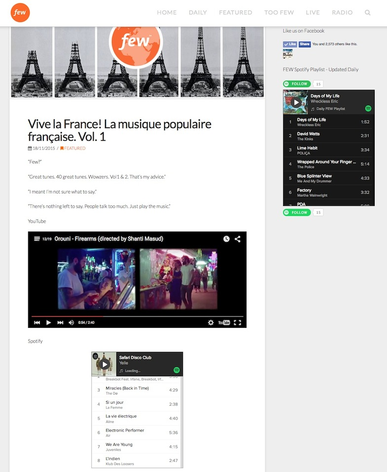 French music on FEW