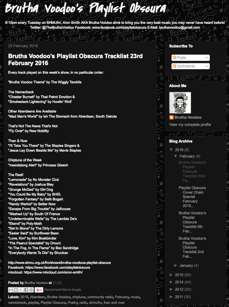 Orouni - Brutha Voodoo's Playlist Obscura