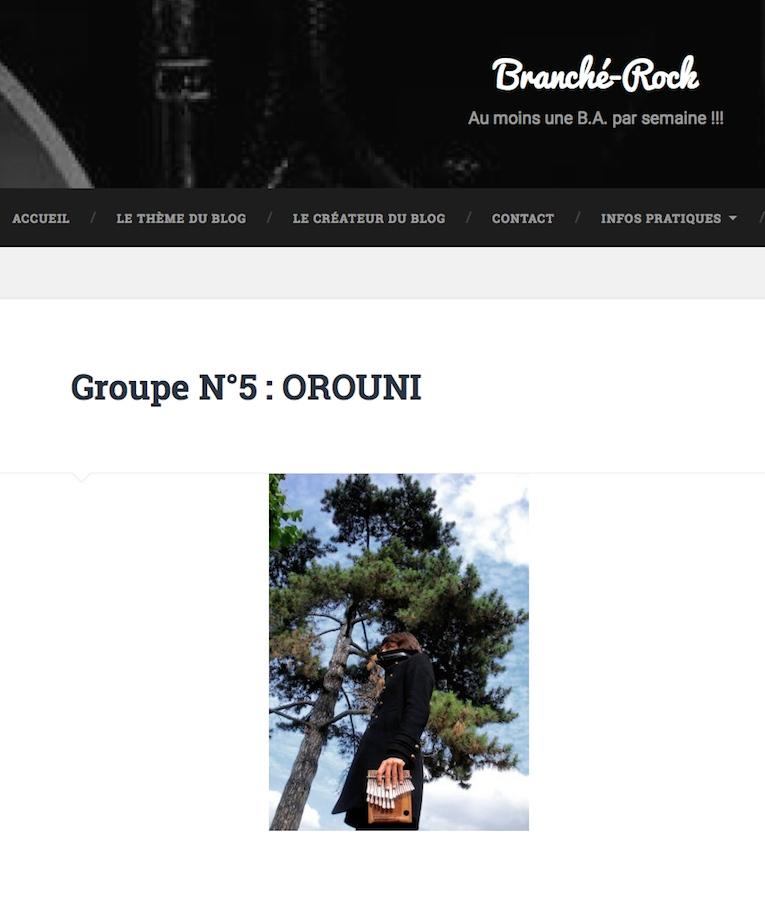 Orouni - Branché Rock