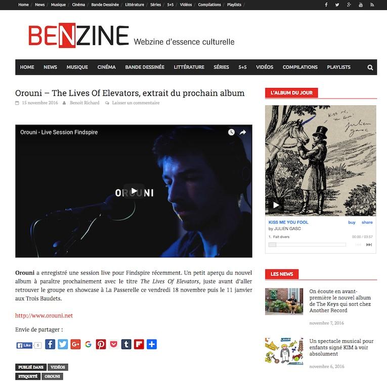 Orouni - Findspire - Benzine magazine