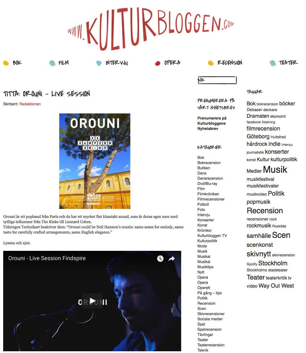 Orouni - Kulturbloggen