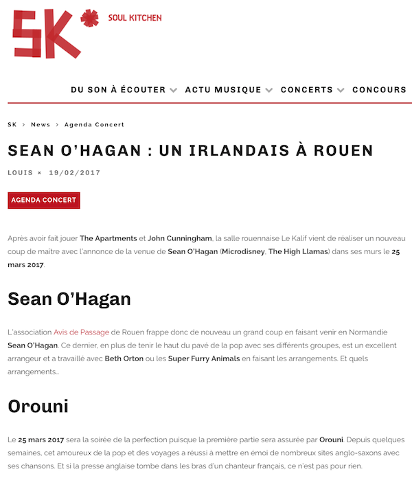 Orouni + SeanO'Hagan - Le Kalif, Rouen - Soul Kitchen