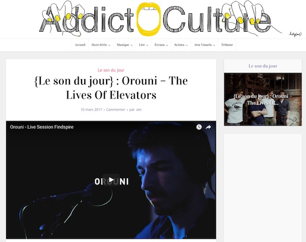 Orouni - Le Son du jour - The Lives Of Elevators - Addict-Culture