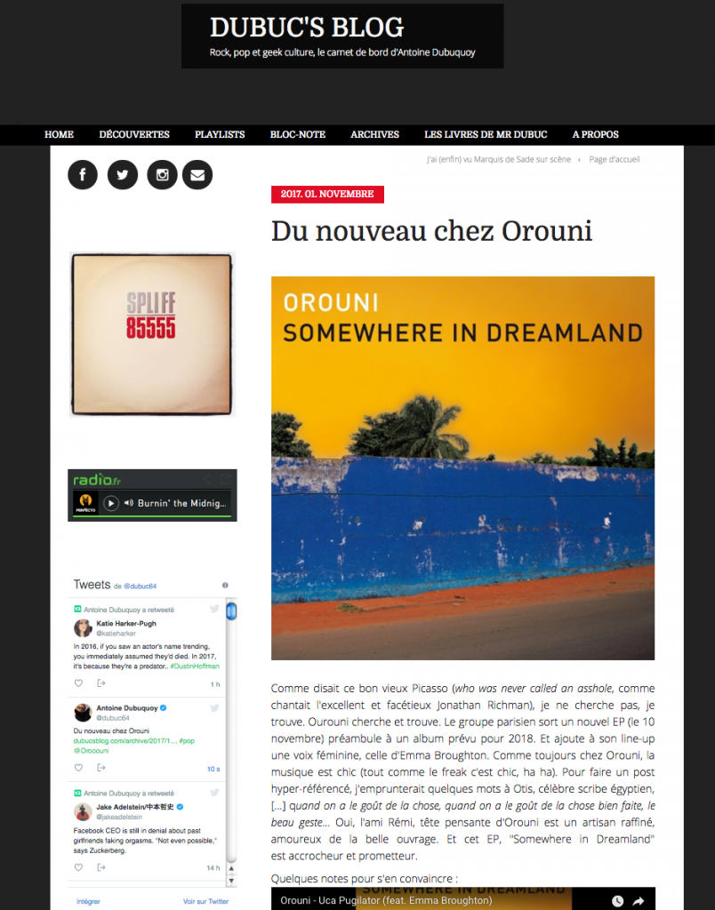 Orouni - Somewhere In Dreamland - Dubuc's blog