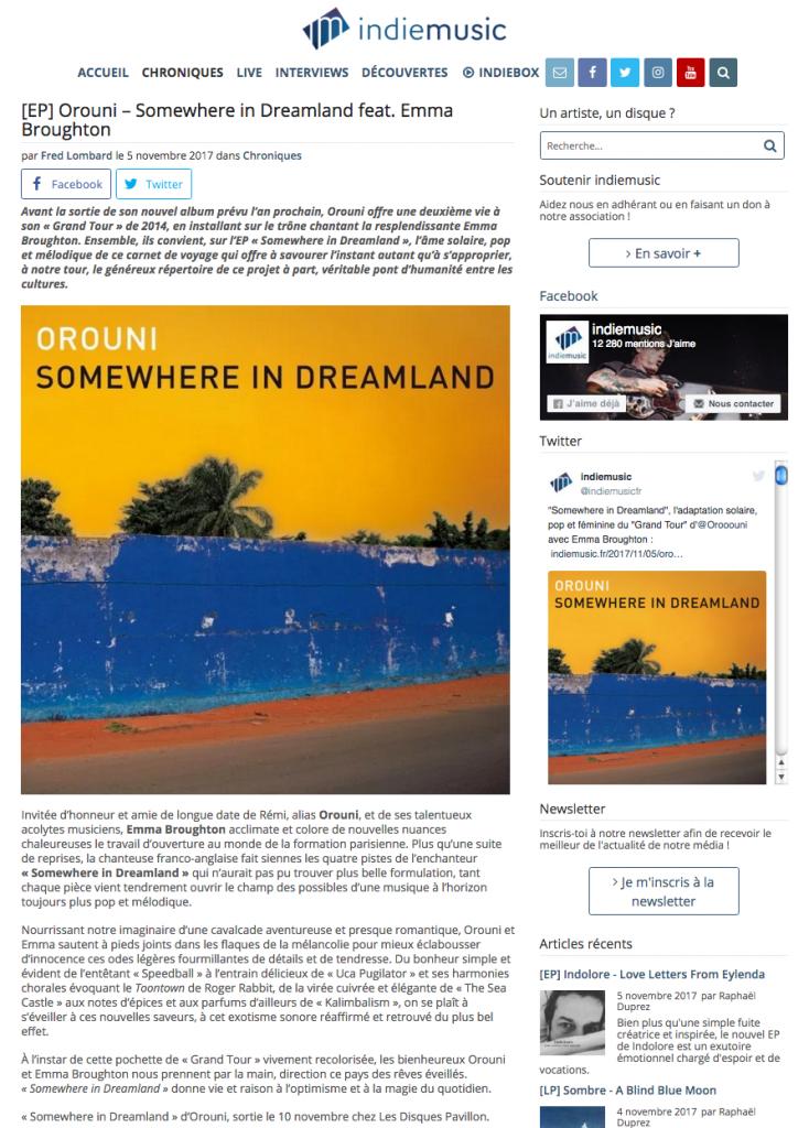 Orouni - Indiemusic - Somewhere In Dreamland