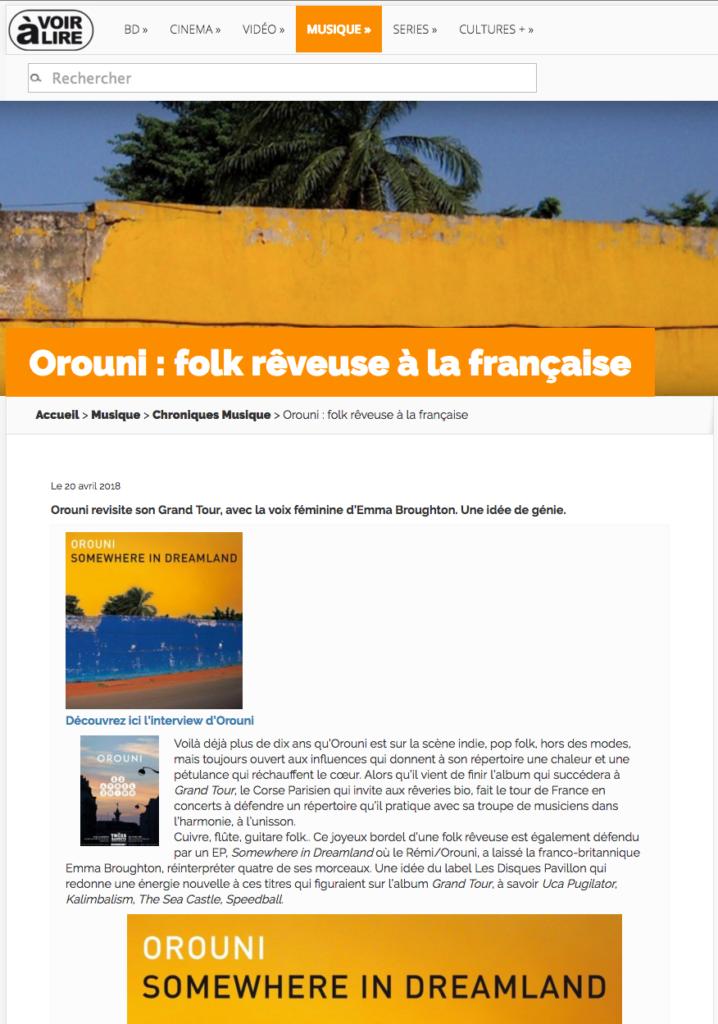 Orouni - À voir à lire