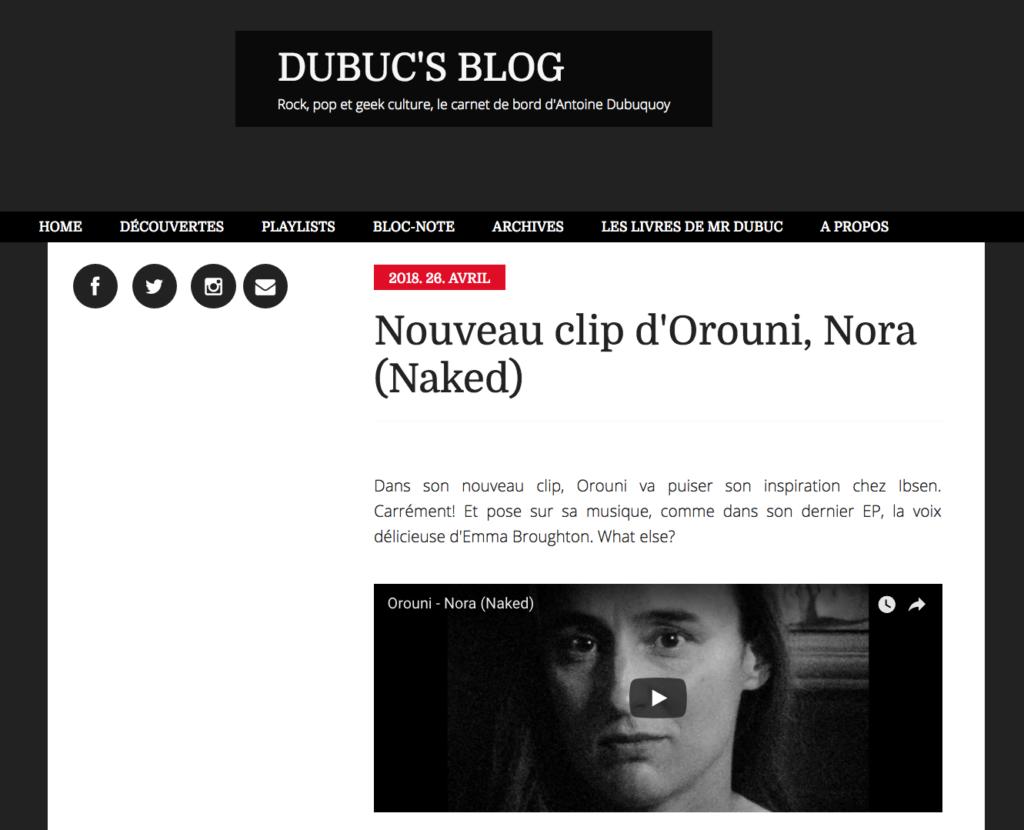Orouni - Dubuc's blog