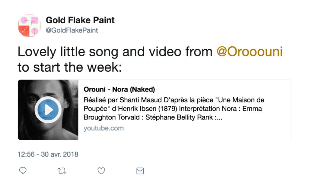 Orouni - Gold Flake Paint