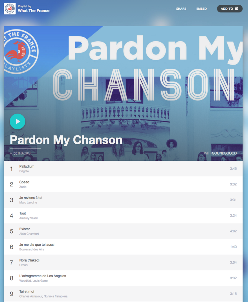 Orouni - Pardon my chanson