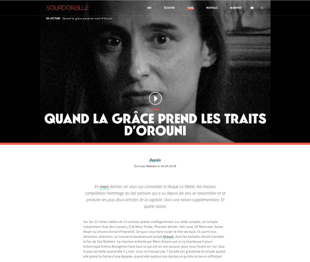 Orouni - Sourdoreille