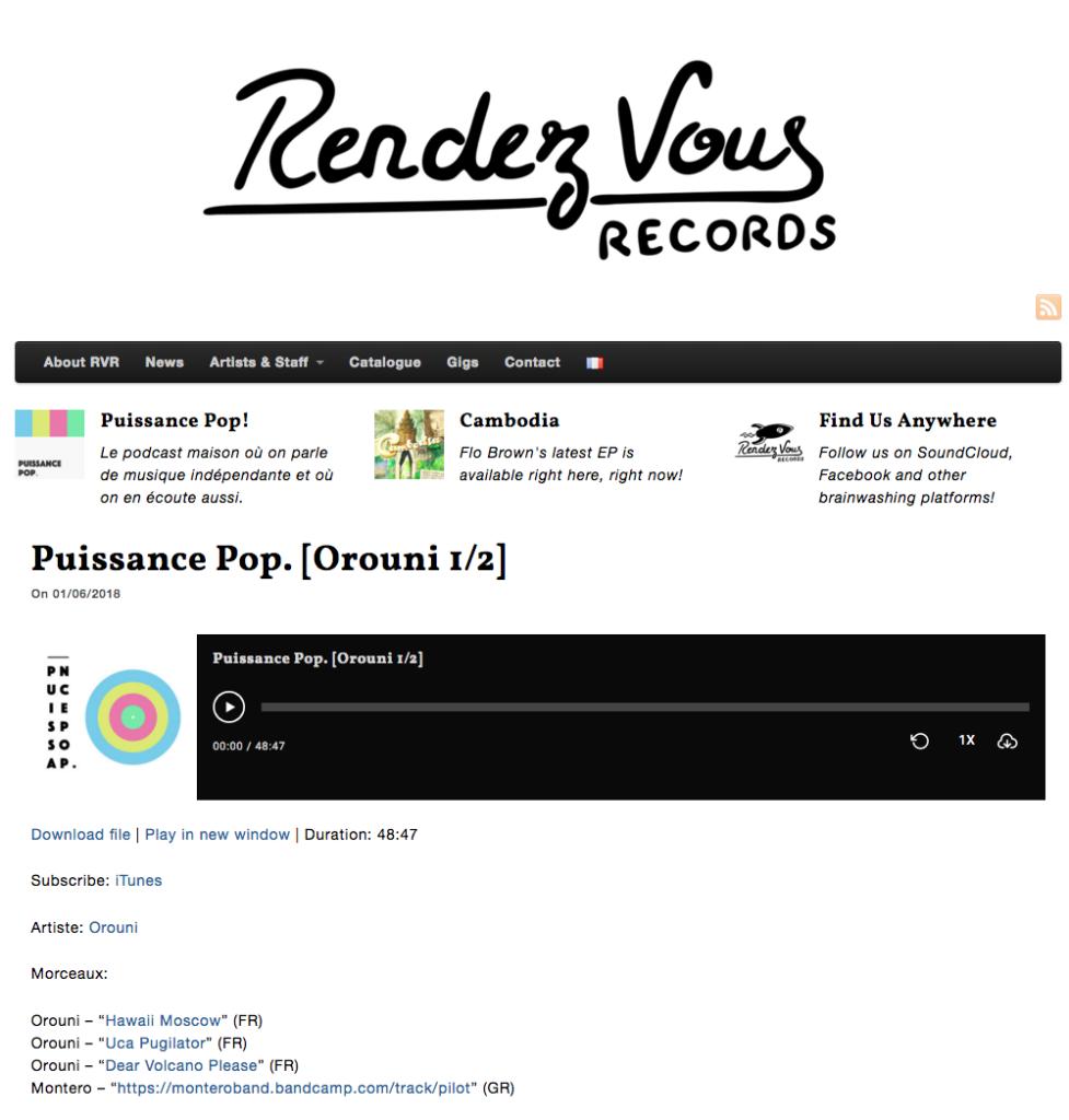 Orouni - Puissance Pop