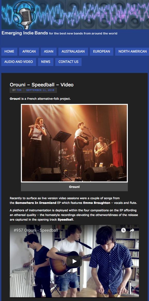 Orouni - Emerging Indie Bands