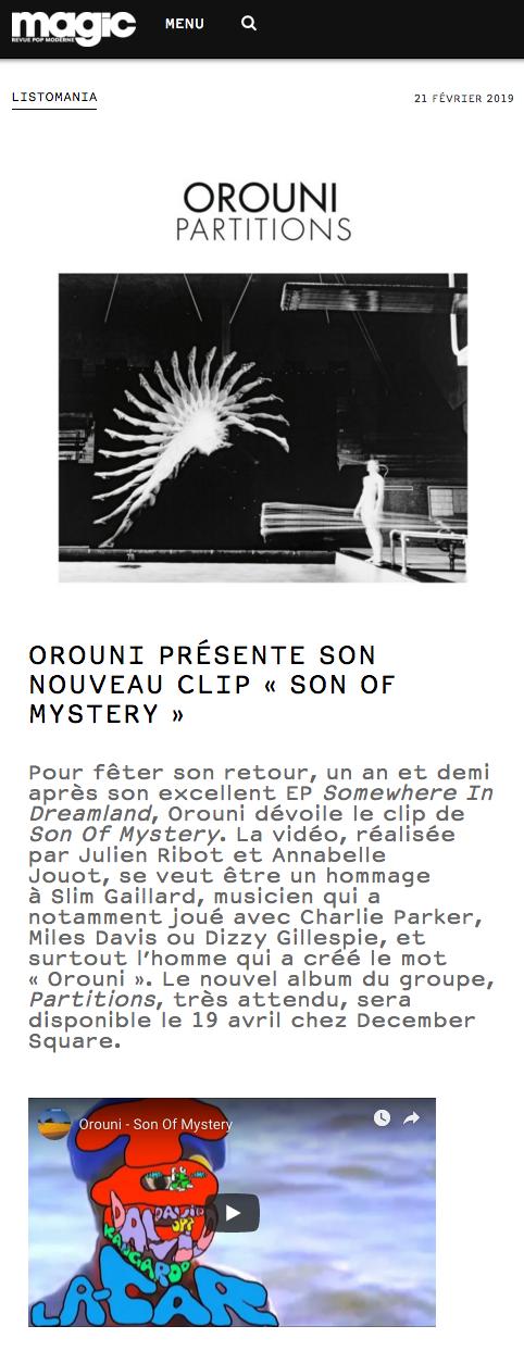 Orouni - Son Of Mystery - Magic