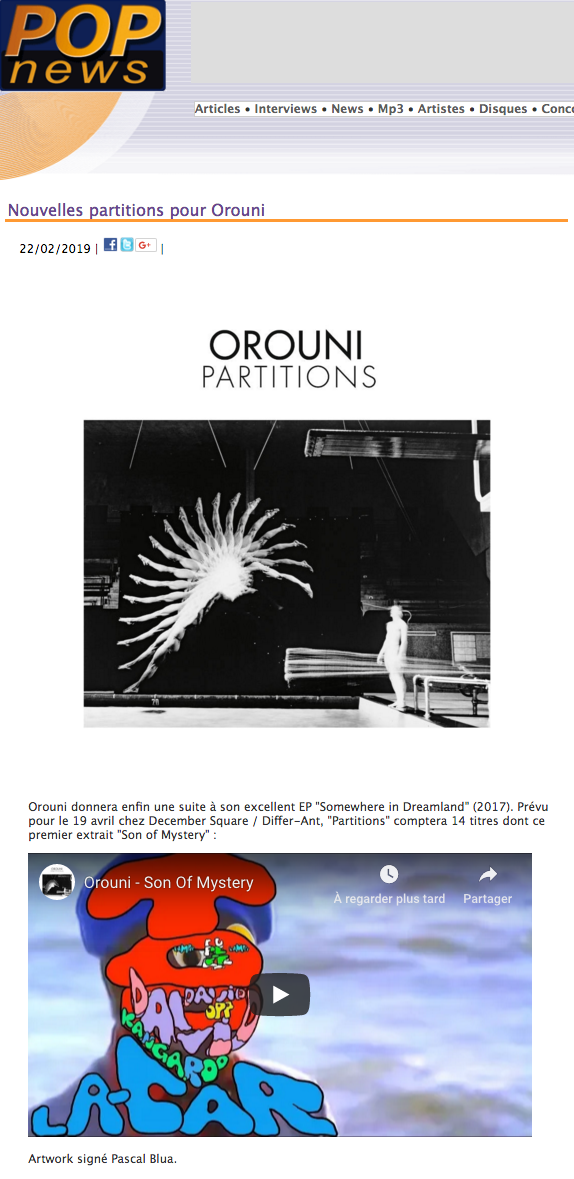 Orouni - POPnews