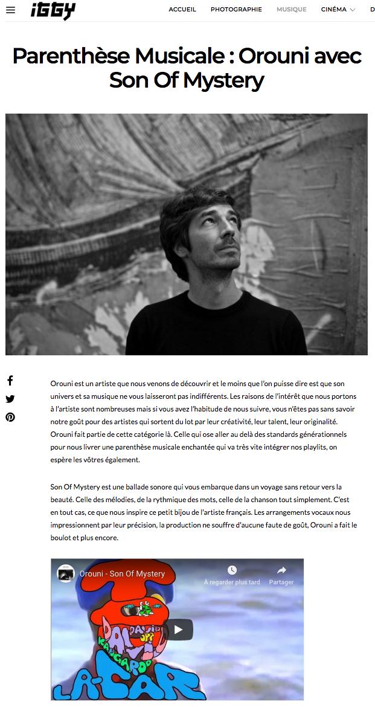 Orouni - Iggy Magazine