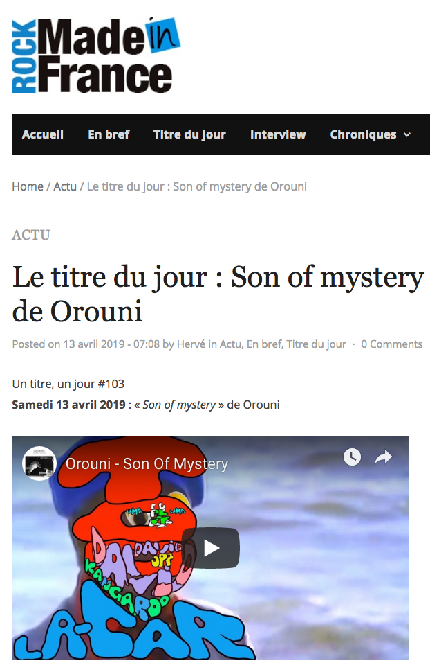 Orouni - Rock Made in France