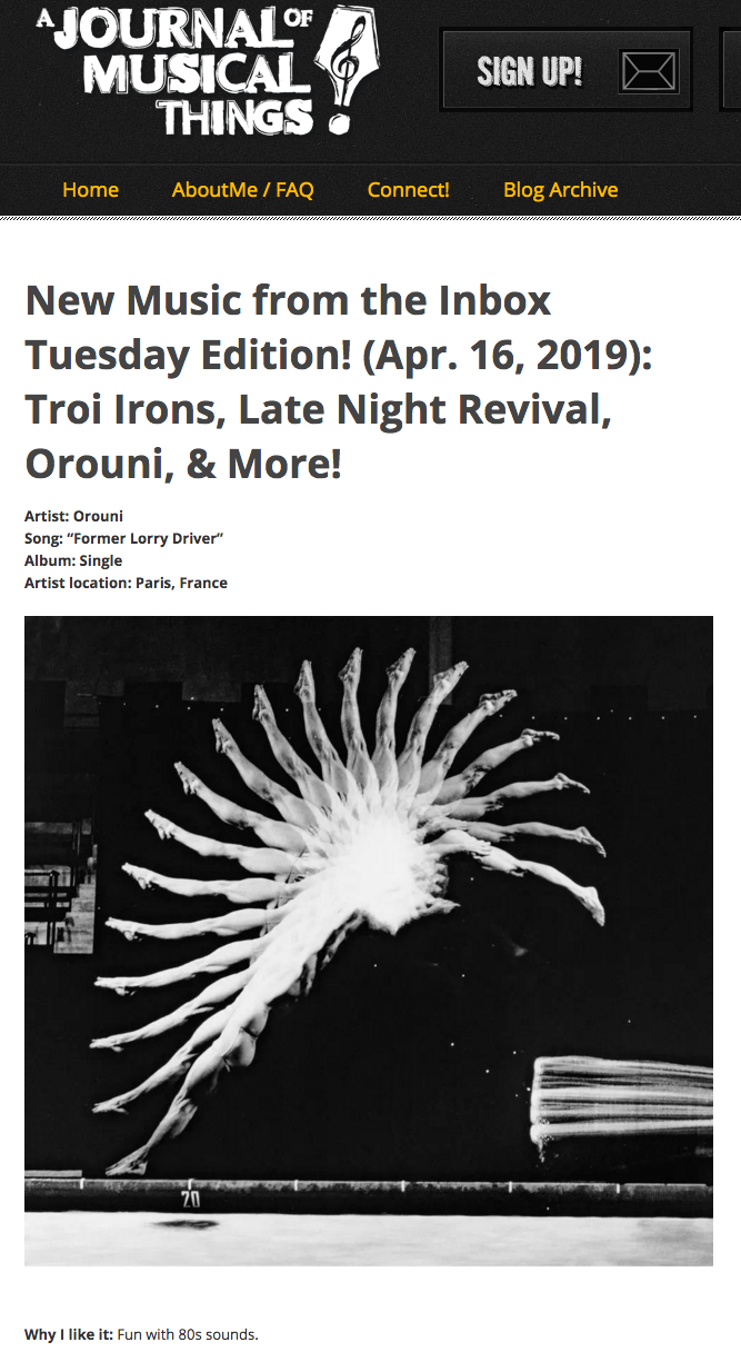 Orouni - A journal of musical things
