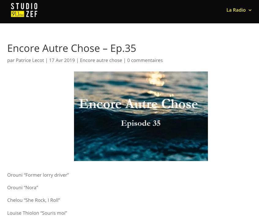 Orouni - Encore autre chose - Studio Zef