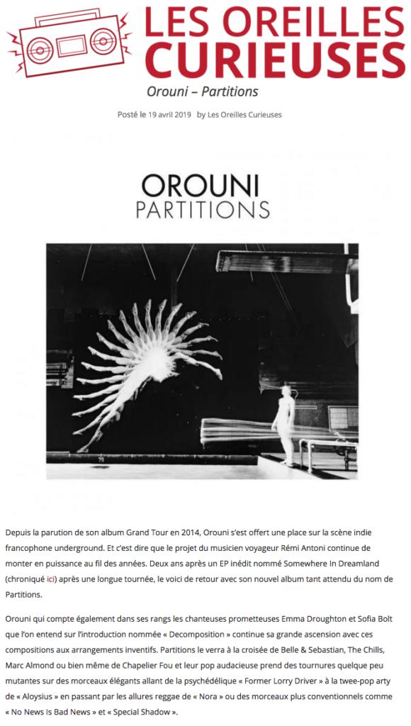 Orouni - Les oreilles curieuses